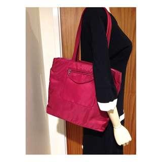Authentic Prada burgundy Red shopper tote  RARE colour