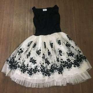 Black And White Semi-formal/Prom Dress