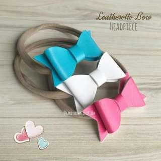 Leatherette Bow Headpiece