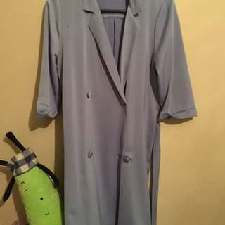 Baby Blue Button Dress Size 4
