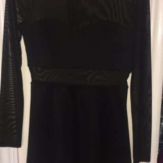 Long sleeve Mesh Dress From F21