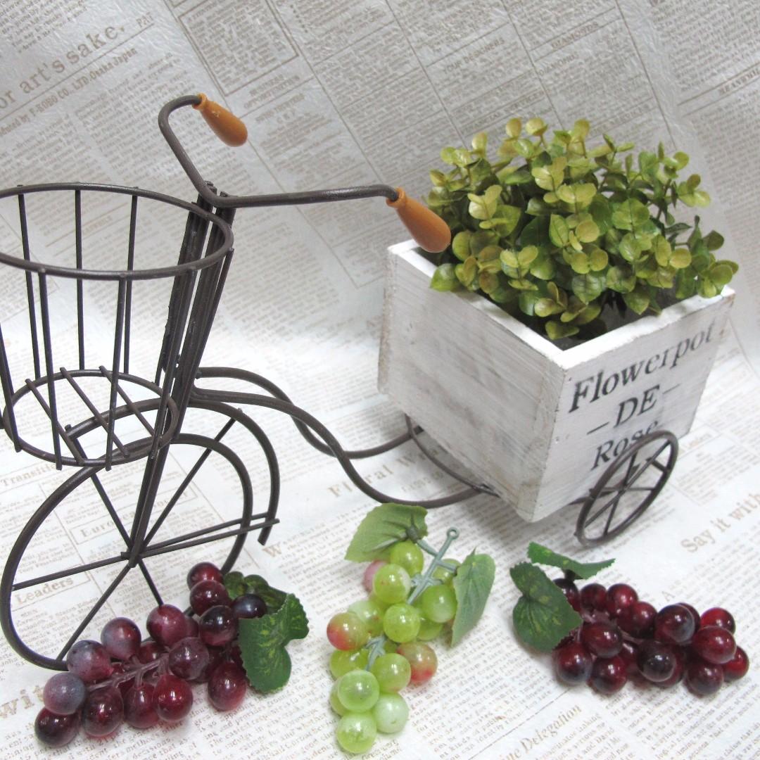 【樂提小舖】04051 木盒花車 3尺寸 日系雜貨風 小盆栽 裝飾腳踏車 zakka花盆 造型花盆 造型三輪車 鐵三輪車