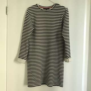 Long Sleeve Dress stripe