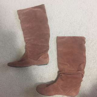 Steve Madden Leather/Suede Boots