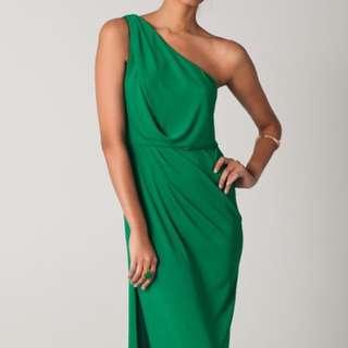 BCBG Evening Gown Prom Dress Green