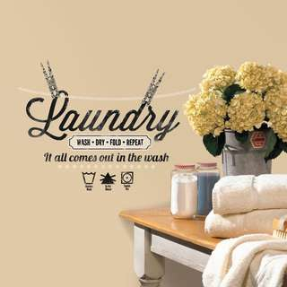 RoomMates Laundry Quote Peel and Stick Wall Decals