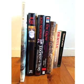 8 X Various Vampire/Witch Books