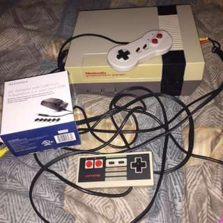NES With Controller And Adaptor