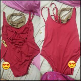 Lowback One Pc swimsuit