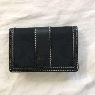 Black Coach Card Holder