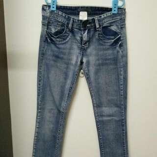 Nonstop窄管牛仔褲(M號)