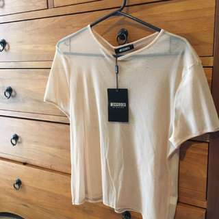 NWT Missguided Mesh Tee