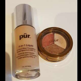 Pur Mineral Liquid Foundation & Pur Eyeshadow