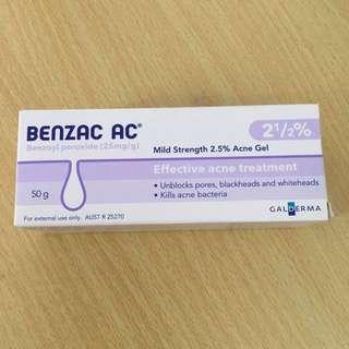 BENZAC Benzoyl Peroxide 2.5% Acne Gel