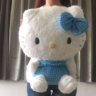Hello Kitty Super Jumbo Sanrio Plush Stuff Toy Blue