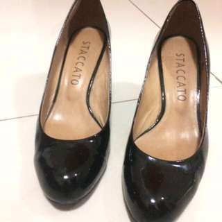 STACCATO WEDGES Black Sz 38