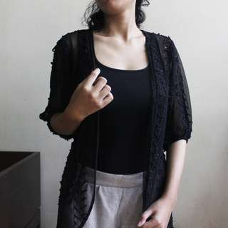 #ClearanceSale: Black Party-Go Cardi/Outer
