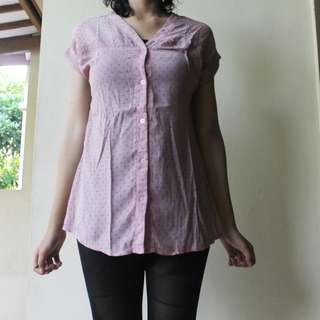 Pink Dotty Top