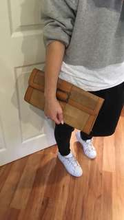 Tan Clutch Bag