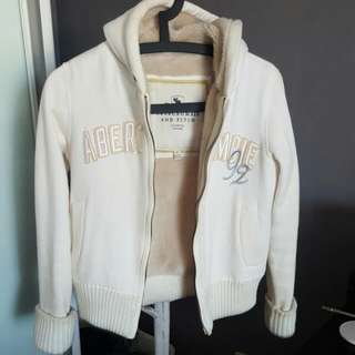 Abercrombie + Fitch Cream Hoodie