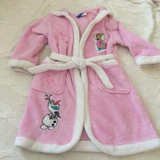 Girls Disney frozen Dressing Gown Size 3