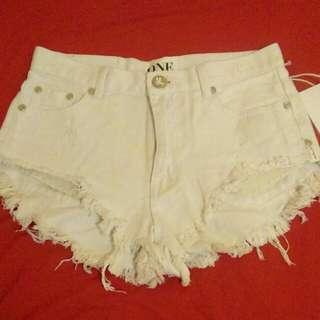 【含運】ONETEASPOON 潮牌白色短褲
