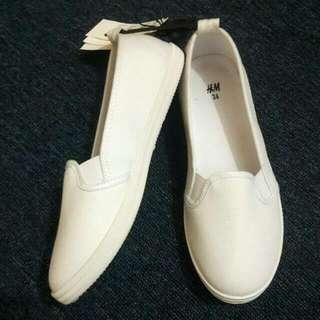 H&M White Slip On