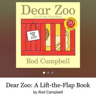Dear Zoo / Board Book / Flip-Flap book / 1 Year Old / 2 Year Old / Recommended Read / Children Books