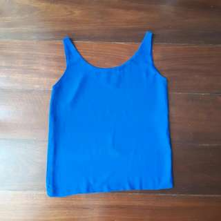 REPRICED Blue Chiffon Top