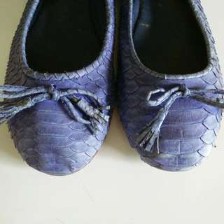 Ballerina Shoes Ori Python Leather