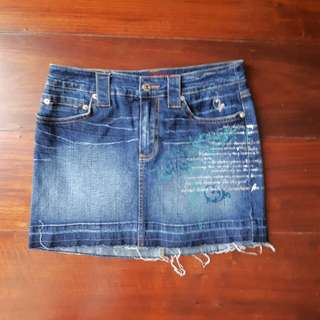 REPRICED Baby Phat Denim Mini Skirt