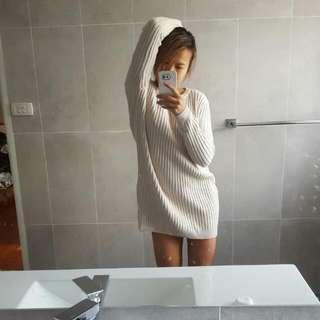 Beige Knit Dress Size XS