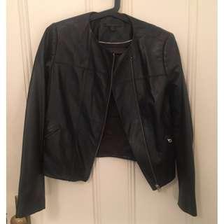 Trenery leather jacket size 8