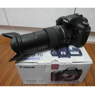 【出售】Canon 7D 中階機皇 數位單眼相機 盒裝完整 彩虹公司貨