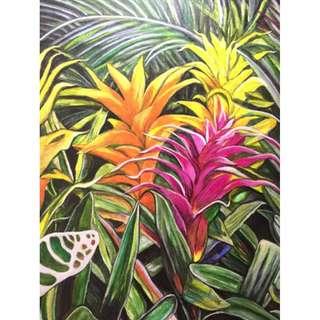 Bromeliads No. 2 painting