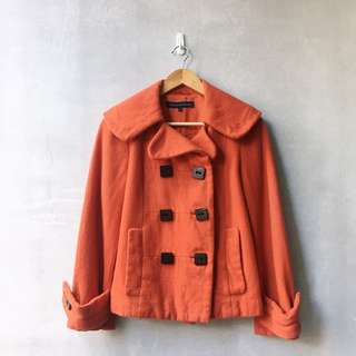 French Connection Double Breasted Coat
