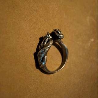手作純銀龍戒指 國際戒圍#9