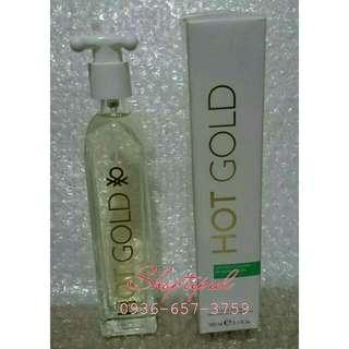 Hot Gold United Colors Of Benetton Perfume Women 100ml Eau de Toilette Spray