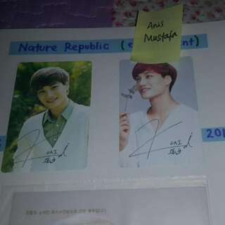 EXO KAI NATURE REPUBLIC Photocards