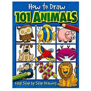 BNIB How To Draw 101 Animals