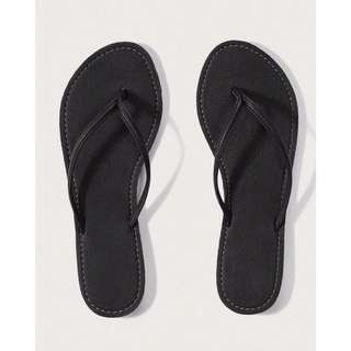 Abercrombie Faux Leather Flip Flops