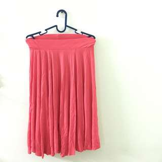 H&M Pink Flare Skirt
