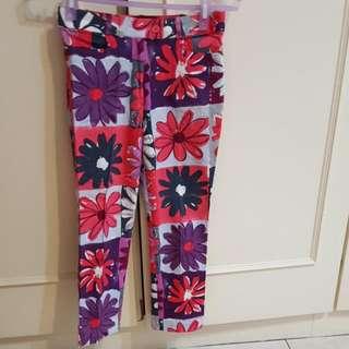 花朵七分褲