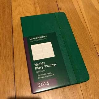 Green Moleskine Weekly Planner Notebook