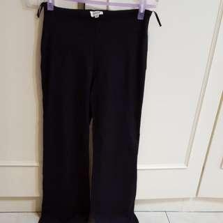 黑色彈性長褲