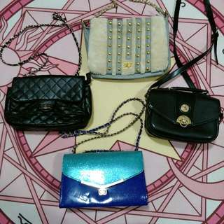 Assorted handbags