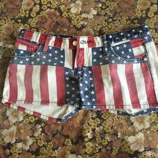 Short American Flag