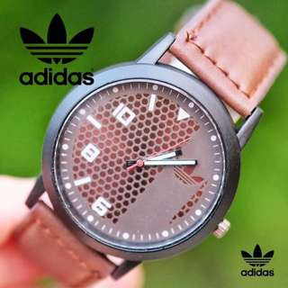 ADIDAS LEATHER WATCH