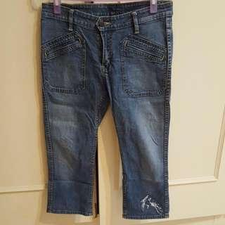 七分牛仔褲