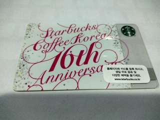 Starbucks cards korea 16th anniversary